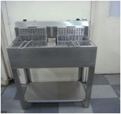 TWO BOWLS POTATO CHIPS FRIER WITH STAND